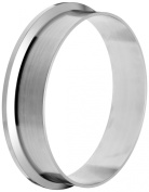 Dixon L14AM7-G600 Stainless Steel 304 Sanitary Fitting, Long Weld Clamp Ferrule, 15cm Tube OD
