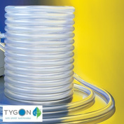 Tygon Non-DEHP Laboratory, Food & Beverage and Vacuum Plastic Tubing, Clear, 6mm ID x 9mm OD, 15m Length