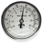 Winters TBM Series Stainless Steel 304 Dual Scale Bi-Metal Thermometer, 5.1cm - 1.3cm Stem, 1.3cm NPT Fixed Centre Back Mount Connexion, 7.6cm Dial, 0-140 F/C Range