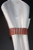 10pcs Set:apple Red Rhinestone-look Bling Napkin Ring/holder Decor