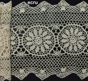 36cm x 140cm Crochet Lace Table Runner BEIGE 100% Cotton Handmade 1PC