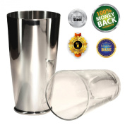 Boston Shaker Premier 830ml Quality Stainless Steel Weighted Cocktail Shaker and 1 Pint Tempered Mixing Glass - Precisely Weighted for Stability - Preferred by Pros and Amateurs Alike