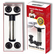 Chef Caron - Wine Saver Vacuum Pump - Stainless Steel Pump - Set of Four Silicone Stoppers with Quick Release Button