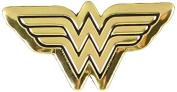 DC Comics Originals Wonder Woman Logo Metal Sticker, Gold, 4cm
