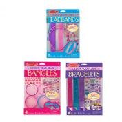 Melissa & Doug Design-Your-Own Jewellery-Making Kits - Bangles, Headbands, and Bracelets