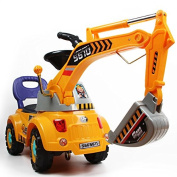 Digger scooter, Ride-on excavator, Pulling cart, Pretend play construction truck (colour may vary) by POCO DIVO