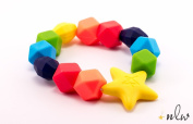 Teether - Rainbow Charm teething ring - BPA free - Organic Food Grade Silicone ♥