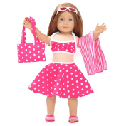 Toy Doll Clothes - 6 Piece Swimsuit Set