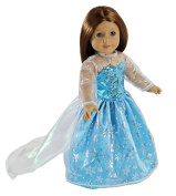 Elsa Inspired Princess Doll Clothes for American Girl Dolls