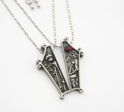 The Nightmare Before Christmas Jack & Sally Figure Couple Lover Necklace Pendant