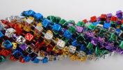 33 inch 7mm Dice Metallic 6 Colour Mardi Gras Beads - 6 Dozen