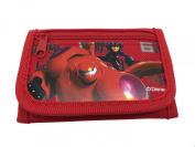Disney Big Hero 6 Bay Max and Hero Brand New 2014 Tri Fold Wallet - Red