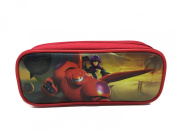 Disney Big Hero 6 Bay Max and Hero Brand New 2014 Pencil Case Pouch Bag - Red