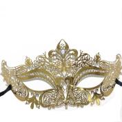 Signstek Glossy Metal Filigree Phantom Half Eye Mask for Venetian Masquerade