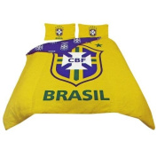Brazil Football Official Reversible Duvet Cover Bedding Set (Single And Double) (Single Bed)