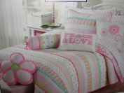 Girls pink and pastels cotton quilt set