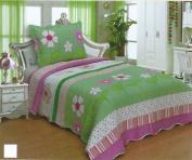 Kids' Boys & Girls Twin Size Polyester 2pcs Bedspread Quilt Coverlet & Sham 05