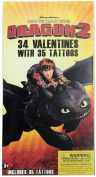 How To Train Your Dragon2 32 Valentines with 35 Tattoos and Sticker Sheet