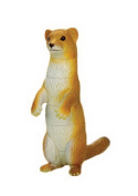4D Stereo Toy Assembled Dinosaur Egg Toy Cute Little Animal--Weasel