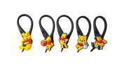 5 pcs Winnie the Pooh Soft Zipper Pull Charms for Backpack Bag Pendant Jacket