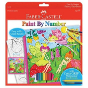 Faber Castell Faber-Castell Paint By Number Fairy Garden With Watercolour Eco Pencils