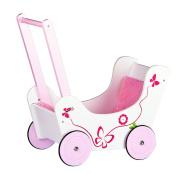 Classic wooden pram doll's buggy with bedding, Pushchair Children Girls, baby walker