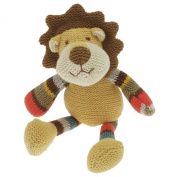Walton Baby - Alex Lion - Knitted Baby Rattle Soft Toy 19cm