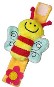 Viskey Lovely Plush Soft Baby Wrist Rattle Toy Bee