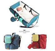ROYAL KIDDY LONDON © 2 IN 1 FOLDABLE BABY TRAVEL BAG AS BABY CHANGING BAG, NURSERY BAG, nappies BAG & BASSINET