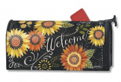 Sunflower Chalkboard Mailwraps Mailbox Cover