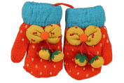 Durable Lovely Pattern Warm Gloves Useful Woollen Winter Baby Mittens 13*7CM