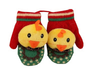 Durable Lovely Warm Gloves Useful Cute Winter Baby Mittens 12*6CM Red