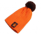 BuyHere Cute Unisex Baby Pentagram Winter Beanies Knit Hat,Orange