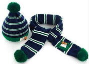 TheWin Fashion Lovely Baby Kids Girls Boys Warm Winter Knit Crochet Hat with Scarf, Green