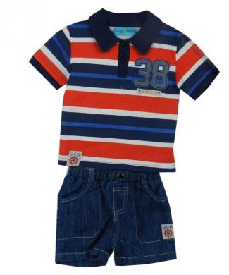 Lily & Jack Kids Applique Shirt and Short Set Age 6-12,12-18,18-24 Months