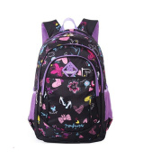 Coofit Cute Colourful Backpacks for Girls School Bags Purple