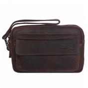 Greenland Montana Men's Wrist Bag Men's Bag Leather 21 cm natur
