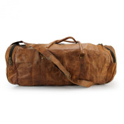 A.P. Donovan - Leather bag sports bag gym around travel bag - 50cm x 25cm x 25cm