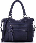 Masquenada Men's Top-Handle Bag Blue Blau, Jeansblau