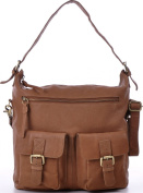 Masquenada Women's Shoulder Bag Brown karamellbraun, Camel, Braun