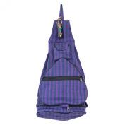 Fair Trade Gringo Stowaway Fold Away Canvas Shopper Zipped Backpack Bag Purple