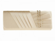 New Long Satin Pleated Evening Clutch Handbag Bag Lots Of Colours ~ Accessorise-me 883, Bridesmaid Wedding