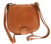 CTM Woman Clutch bag with shoulder strap, 19x17x6cm, Genuine Leather 100% Made in Italy
