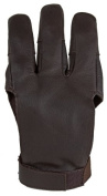 Damascus DWC Archery Shooting Glove, Three Finger Design Fits Either Hand, Velcro Strap, X-Large