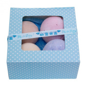 Bath Bomb Gift Set- Set of 4 -Beauty Bakery- Its a Boy Ribbon