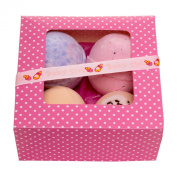 Bath Bomb Gift Set- Set of 4 -Beauty Bakery- Its a Girl Ribbon