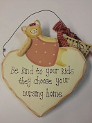Hanging heart plaque be kind to your kids