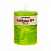 Green Tea Scented Candle (430 grammes) - Handmade! Long lasting, over 60 hours!