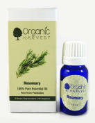 Organic Harvest Rosemary 100% Vegetarian and Pure Natural Essential Oil 10ml