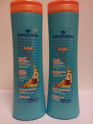 Kanechom Argan Shampoo & Conditioner 350ml Set - For Damaged Hair - With Argan Oil and Keratin